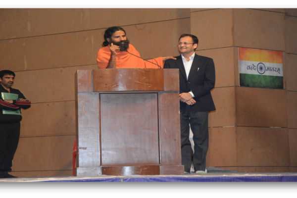 "Mr Anand during ""Patanjali Yogpeeth"" social campaign"