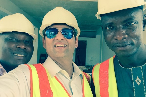Mr Anand on his Ghana construction firms visit